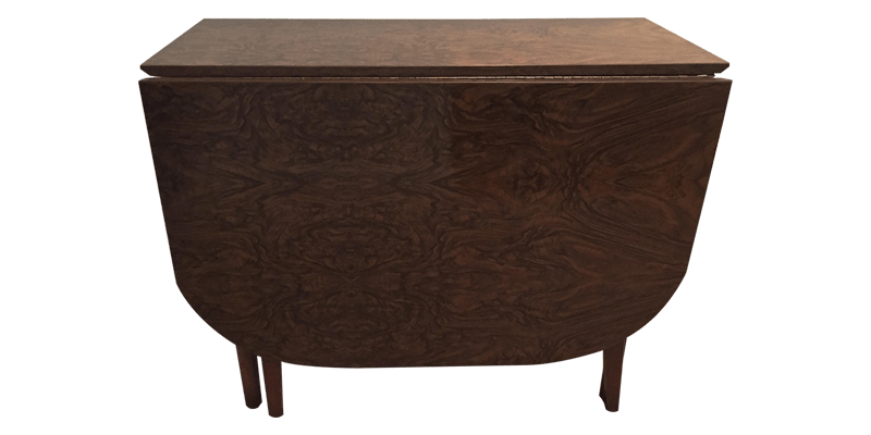 Walnut Folding Wooden  Table featuring Box Stret...